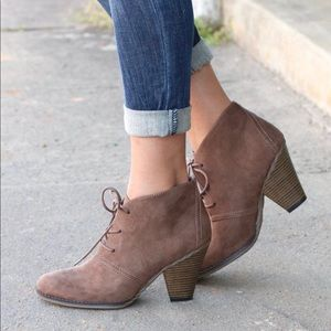 Mia Shawna tan ankle boots